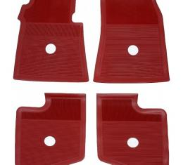 Full Size Chevy Accessory Floor Mats, Red, 1963-1964