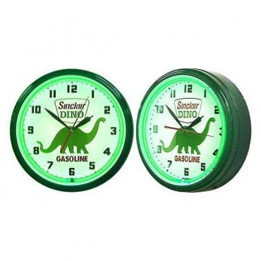 Neon Clock, Dino Sinclair Gasoline,  20''