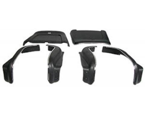 Chevelle Seat Back & Side Panel Set, Bucket, 2-Door Coupe & Convertible, Black, 1969-1972