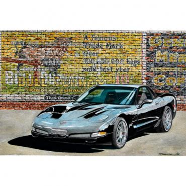 Corvette The Black Bull, Fine Art Print By Dana Forrester, 11x17