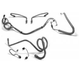 El Camino Full Brake Line Set, Manual Drum, Stainless Steel, 1969-1972