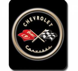 Corvette Black Logo Mouse Pad