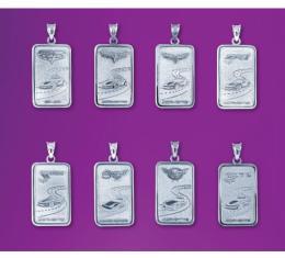 Corvette Silver Ingot Pendant, 1997-2013 Designs