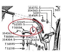 Ford Thunderbird Convertible Top #3 Bow Screw, 1955-57