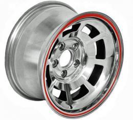 Corvette-Style Polished Aluminum Reproduction Pace Car Wheel, 1949-1954