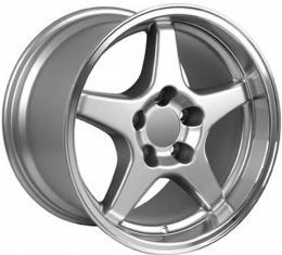 Corvette 17X11 ZR1 Style Deep Dish Wheel, Silver, 1988-1996