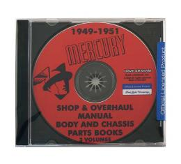 Shop Manual On CD - Overhaul Manual Plus Body and Chassis Parts Books - Mercury - For Windows Operating Systems Only