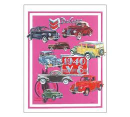 Poster - Depicts Classic Fords From 1940 - 27 X 36