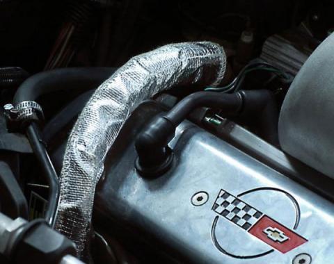 Corvette EGR Pipe Cover, Medium Size, Hook & Loop Closure, 1990-1991