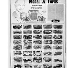Poster - Model A Ford The Worlds Most Famous Automobile - 25 x 34