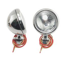 Cowl Lamps - Stainless Steel - With Turn Signal - With Both6 & 12 Volt Bulbs - Ford