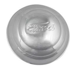 Hub Cap - Ford Embossed - Stainless Steel - 8-1/4 - Ford Pickup Truck