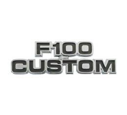 Ford Pickup Truck Cowl Side Nameplate - F100 Custom - F100