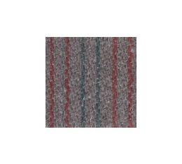 "Upholstery Fabric - Grey With Maroon and Green Stripe Wool - 60"" Wide - Material Available By The Yard"