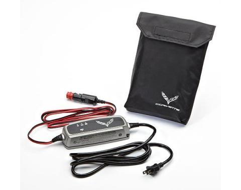 Corvette Battery Protection, Battery Tender, 110V, C7 Logo, 2014-2017