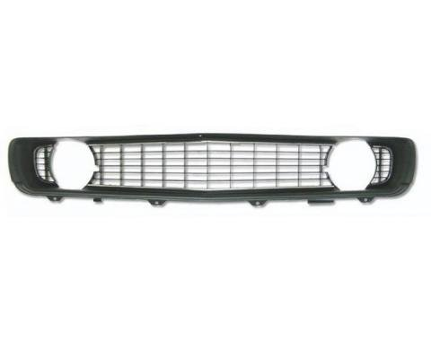 Camaro Center Grille, Black, For Cars With Standard Trim (Non-Rally Sport), 1969