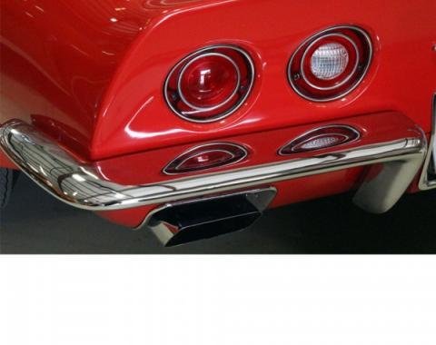 Corvette Rear Bumper, Replacement, Left, 1968-1973
