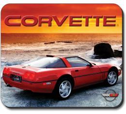 Corvette Mouse Pad, 1990 ZR1 Vette, Sunset