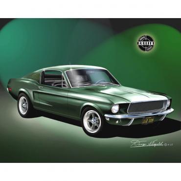 Mustang Original 1968 Bullitt Fine Art Print By Danny Whitfield