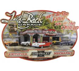 Laid Back Garage Tin Sign 15 1/2'' X 21 3/4''