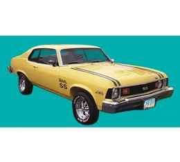 Nova Stripe Kit, Super Sport, Hatchback, 1974