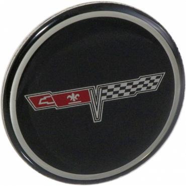 Corvette Wheel Center Cap Emblem, NOS, 1980-1981