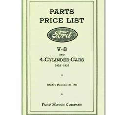 Parts Book & Price List - 120 Pages - Ford