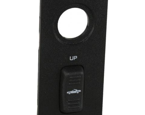 Camaro Convertible Power Top Switch, With Panel, 1994-1996