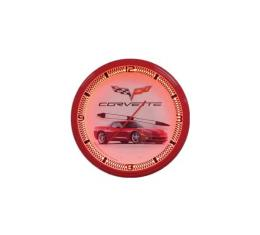 Corvette Red Neon Wall Clock With C6 Side View