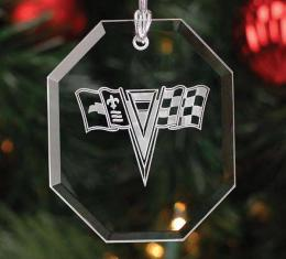 Corvette Crystal Ornament, Octagon Shape, 1963-1967