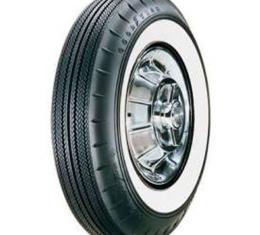 Tire - 670 X 15 - 2-1/4 Whitewall - Tubeless - Goodyear Custom Super Cushion