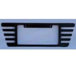 Corvette Rear License Plate Frame, Billet Aluminum, Black Powder Coated, 2005-2013