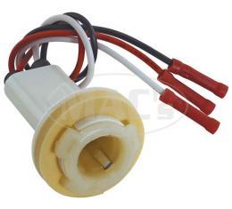 Ford Pickup Truck Parking Light Socket & Wiring - Plastic Socket With Foam Seal - F100 Thru F350