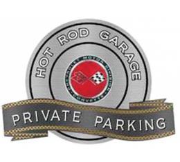 "Corvette C3 Sunburst Emblem Hot Rod Garage Private Parking Metal Sign, 18"" X 14"""