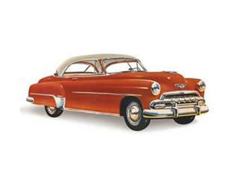 Chevy Rear Glass, Bel Air 2-Door Hardtop, Right, 1950-1952