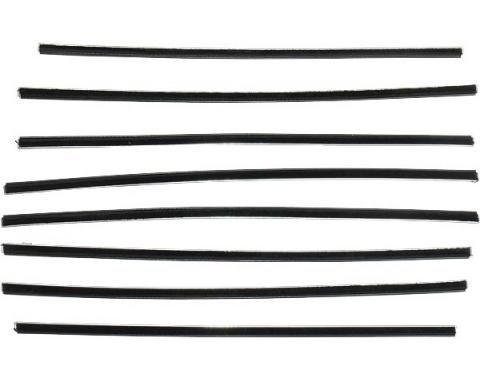 PUI 52-54 FORD 2 DR HTOP WIND 990855 | Belt Weatherstrip Kit/ 8 Pcs/ Ford 2dr Hardtop, 1952-1954