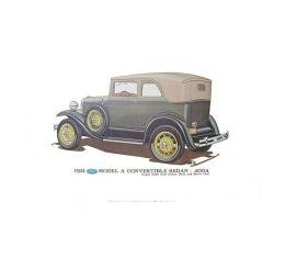 Model A Print - 1931 Ford Convertible Sedan (400A) - 12 X 18 - Unframed