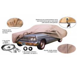Car Cover, Tan Flannel, With Logo, Ford 2- & 4-Door Sedan, Coupe and Convertible, 1957-1958