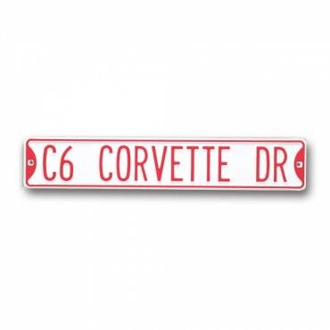 Corvette Street Sign, With C6 Corvette Drive