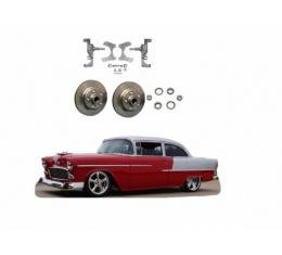 """Chevy 2"""" Drop Spindles With Rotors, 1955-1957"""