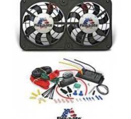 """Nova Fan Kit, Dual Electric, Flex-A-Lite, 12"""", 500CFM"""