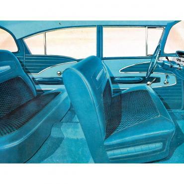 Full Size Chevy Seat Cover Set, 4-Door Sedan, Bel Air, 1958