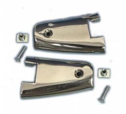 Corvette Door End Caps, with Screws & Nuts, 1961-1962