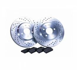 Disc Brake Front Drilled And Slotted Rotor Kit, Street Pack Series, V8, 2010-2014