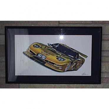"Corvette C5R Racing Dale Earnhardt Print 21 1/4"" X 34"" By Hugo Prado"