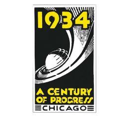 Nostalgia Decal - 1934 - A Century Of Progress Chicago - 3 Tall