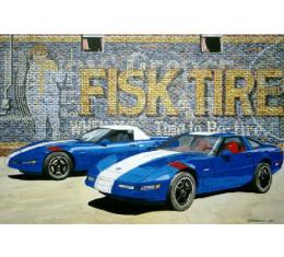 Corvette The Grand Sport Twins, Fine Art Print By Dana Forrester, 11x17