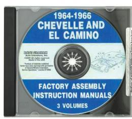 El Camino Factory Assembly Manual, PDF CD-ROM, 1964-1966