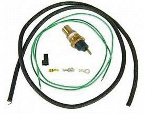 Camaro Coolant Temperature Sending Unit & Wiring Kit, For Cars With Warning Lights, 1967-1969