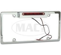 Billet License Plate Frame With 3rd Brake Light